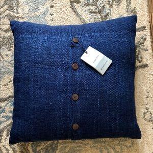 New West Elm Silk/Cotton Pillow Cover & Insert